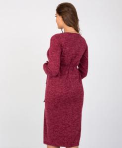 Бордовое платье для беременных и кормящих мам Maribeth
