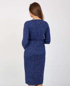 Синее платье для беременных и кормящих мам Maribeth