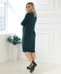 Зеленое платье для беременных и кормящих мам
