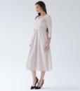 Бежевое платье для беременных и кормящих мам Princess -2