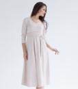 Бежевое платье для беременных и кормящих мам Princess -3