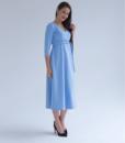 Голубое платье для беременных и кормящих мам Princess -3