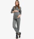 Серый костюм для беременных и кормящих мам Wool Chik -1