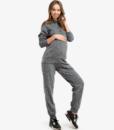 Серый костюм для беременных и кормящих мам Wool Chik -2
