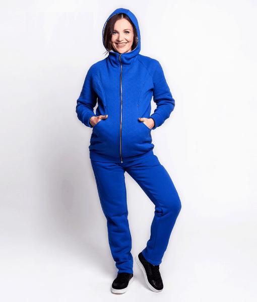 Синий теплый костюм для беременных и кормящих Uno -1