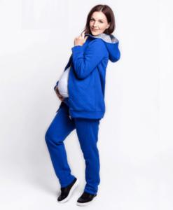 Синий теплый костюм для беременных и кормящих Uno -2