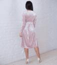 Пудровое бархатное платье для будущих и кормящих мам Angel — 4