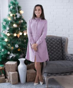 Розовое вельветовое платье для будущих и кормящих мам Daisy - 3
