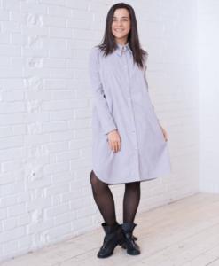 Серое вельветовое платье для будущих и кормящих мам Daisy - 4