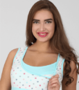 Белая сорочка в горошек для беременных и кормящих мам Sela — 2