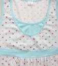 Белая сорочка в горошек для беременных и кормящих мам Sela — 3