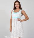 Белая сорочка в горошек для беременных и кормящих мам Sela — 4