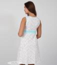 Белая сорочка в горошек для беременных и кормящих мам Sela — 5