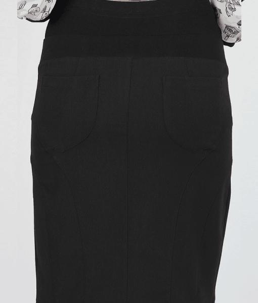 Чёрная юбка карандаш для беременых Alma3
