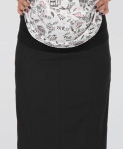 Чёрная юбка карандаш для беременых Alma4