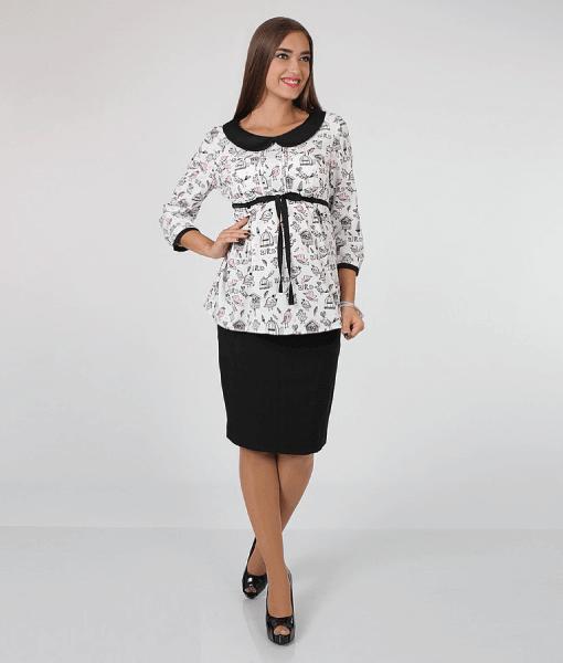 Чёрная юбка карандаш для беременых Alma5