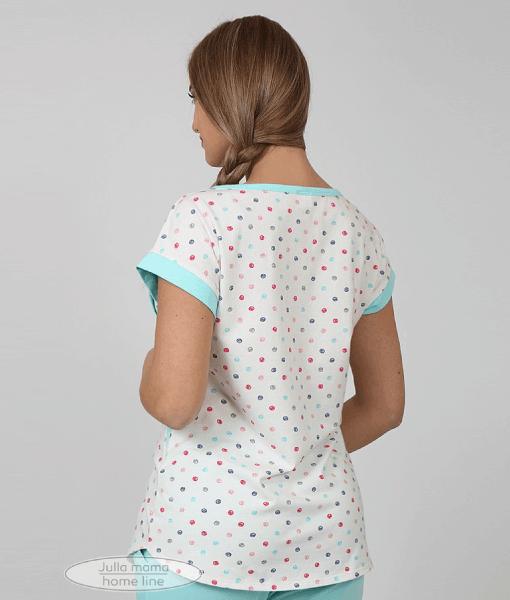 Голубая пижама для беременных и кормящих мам Relax -5
