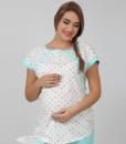 Голубая пижама для беременных и кормящих мам Relax -7