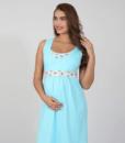 Голубая сорочная для беременных и кормящих мам Sela - 1