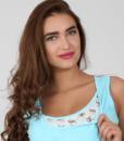 Голубая сорочная для беременных и кормящих мам Sela — 2