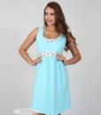 Голубая сорочная для беременных и кормящих мам Sela — 4