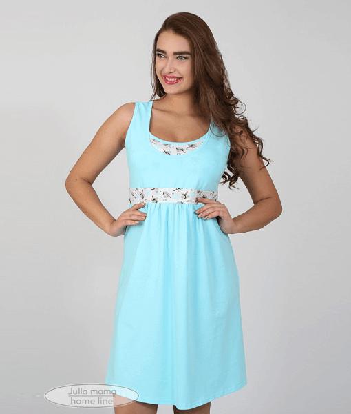 Голубая сорочная для беременных и кормящих мам Sela - 4