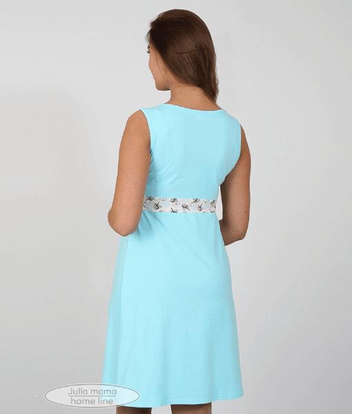 Голубая сорочная для беременных и кормящих мам Sela - 5