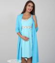 Голубая сорочная для беременных и кормящих мам Sela — 6
