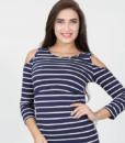 Полосатый лонгслив для беременных и кормящих мам Nadina — 5