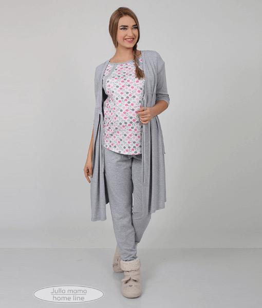 Розовая пижама для беременных и кормящих мам Relax -7