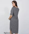 Серое платье для беременных и кормящих мам Flo — 4