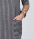 Серое платье для беременных и кормящих мам Flo — 5