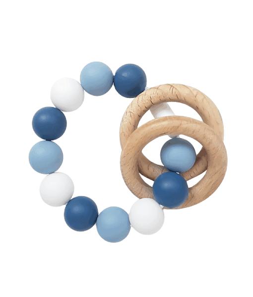 Силиконовый браслет-прорезыватель-с-деревянными-колечками-голубой-1
