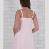 Нежно-розовая сорочка для будущих и кормящих мам Monika