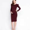 Вишневое платье для беременных и кормящих Charme