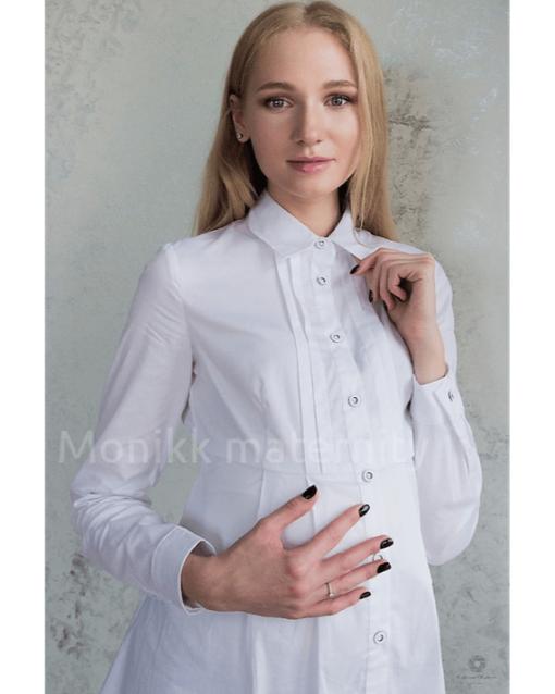 Белая рубашка для беременных Violet