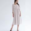 Бежевое платье для беременных и кормящих мам Princess -1