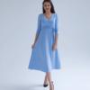Голубое платье для беременных и кормящих мам Princess -2