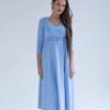 Голубое платье для беременных и кормящих мам Princess -4
