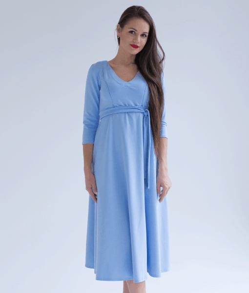 Голубое платье для беременных и кормящих мам Princess -1