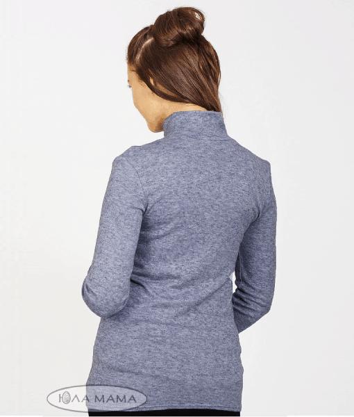 Голубой гольф для беременных и кормящих мам Nila -4