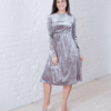 Серое бархатное платье для будущих и кормящих мам Angel — 3