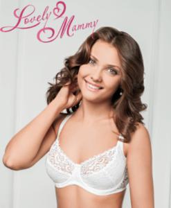 Белый бюстгальтер для беременных и кормящих мам Diana