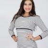 Полосатый лонгслив для беременных и кормящих мам Jael — 5