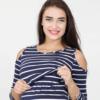 Полосатый лонгслив для беременных и кормящих мам Nadina — 2