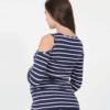 Полосатый лонгслив для беременных и кормящих мам Nadina — 4
