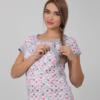 Розовая пижама для беременных и кормящих мам Relax -2
