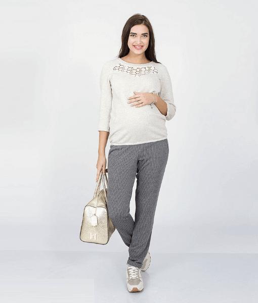 Серые брюки для беременных Brioni