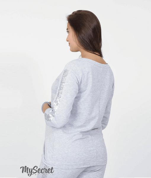 Серый свитшот для беременных и кормящих мам Gigi bright - 4