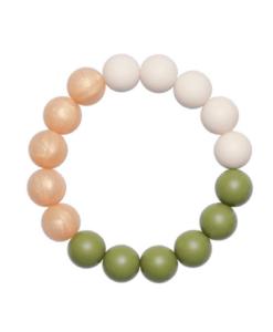 Силиконовый браслет-прорезыватель Esta оливково-золотистый